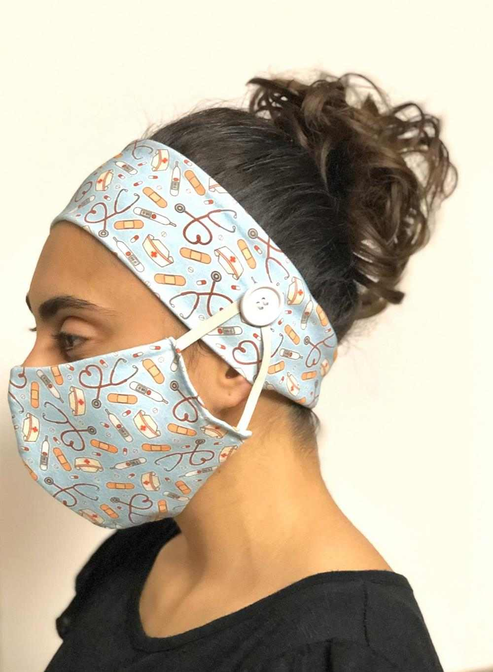 tiara com mascara bico de pato
