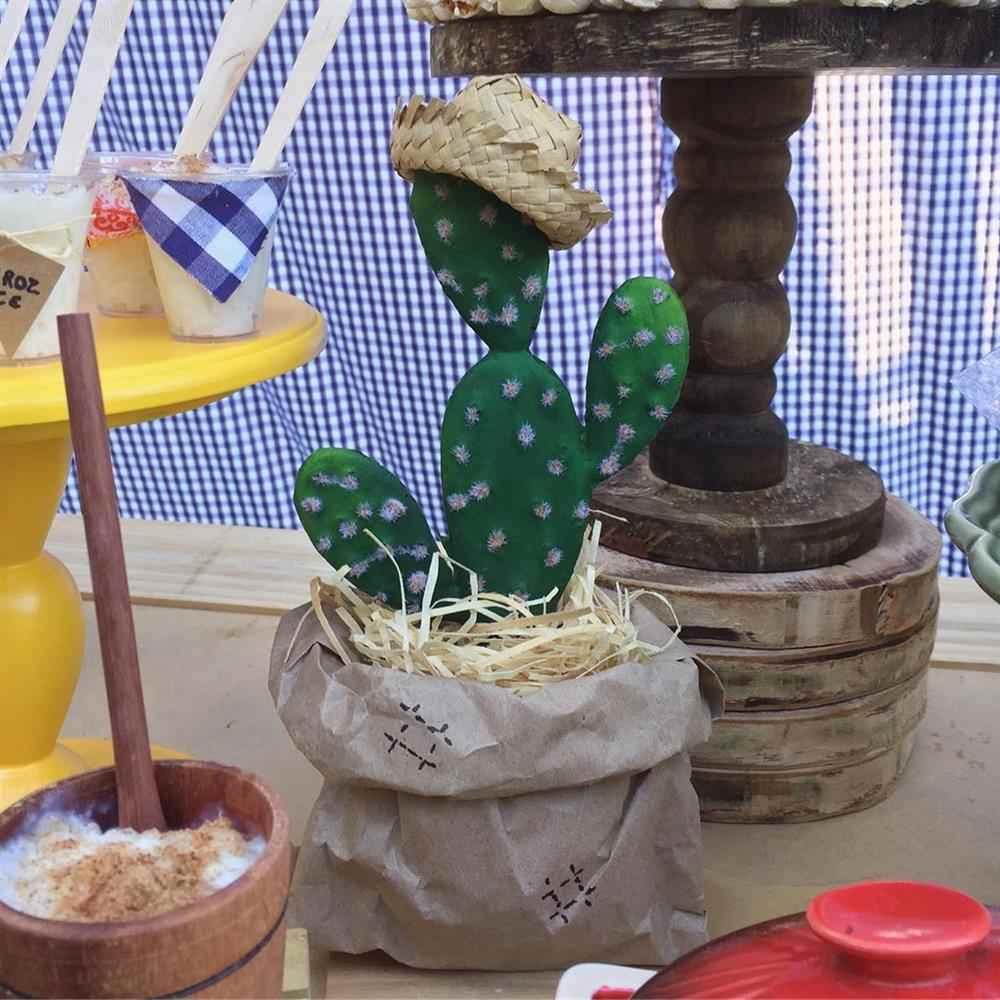 decoração rustica com cactos