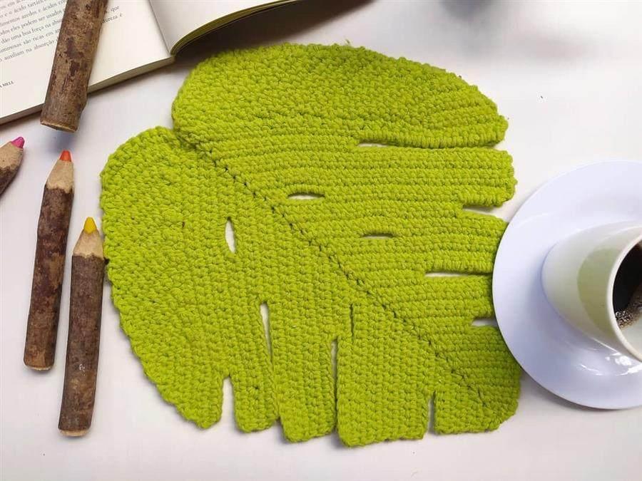folha de croche para mesa posta