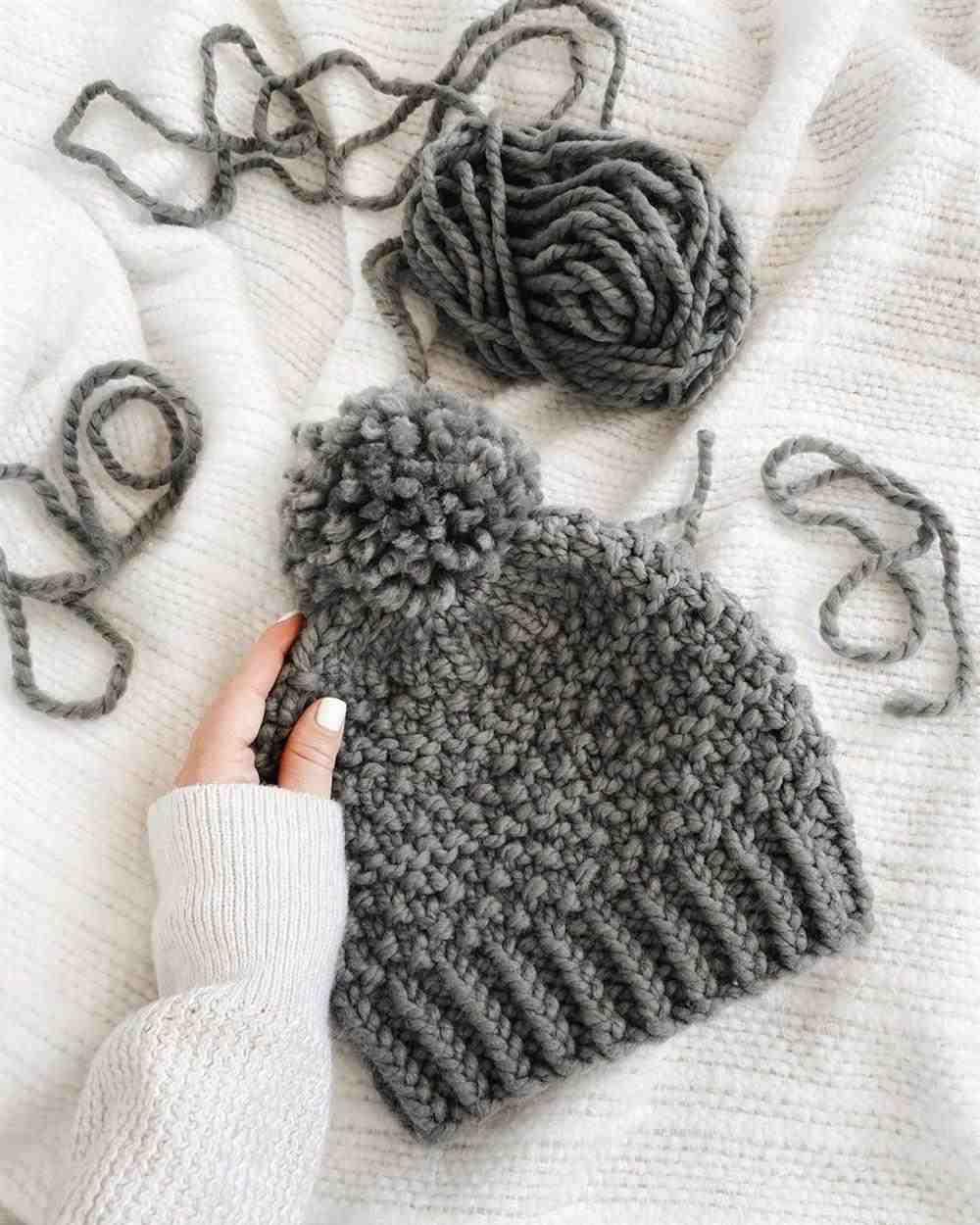 touca de inverno cinza