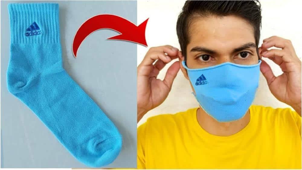 como fazer mascara com meia passo a passo