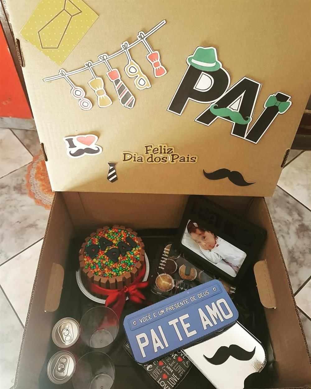 caixa para o dia dos pais