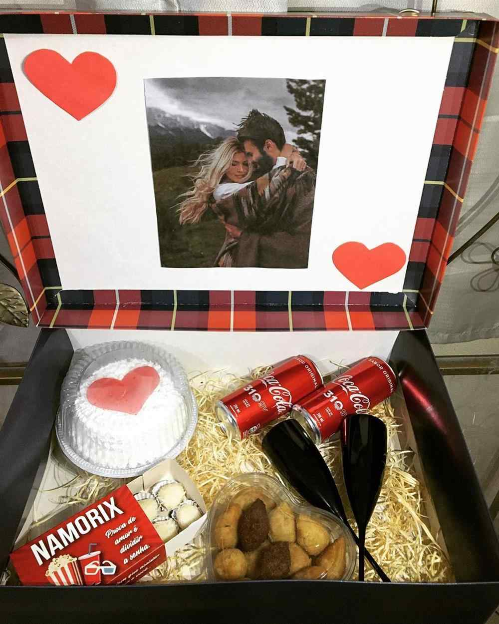 festa na caixa romantica para namorado