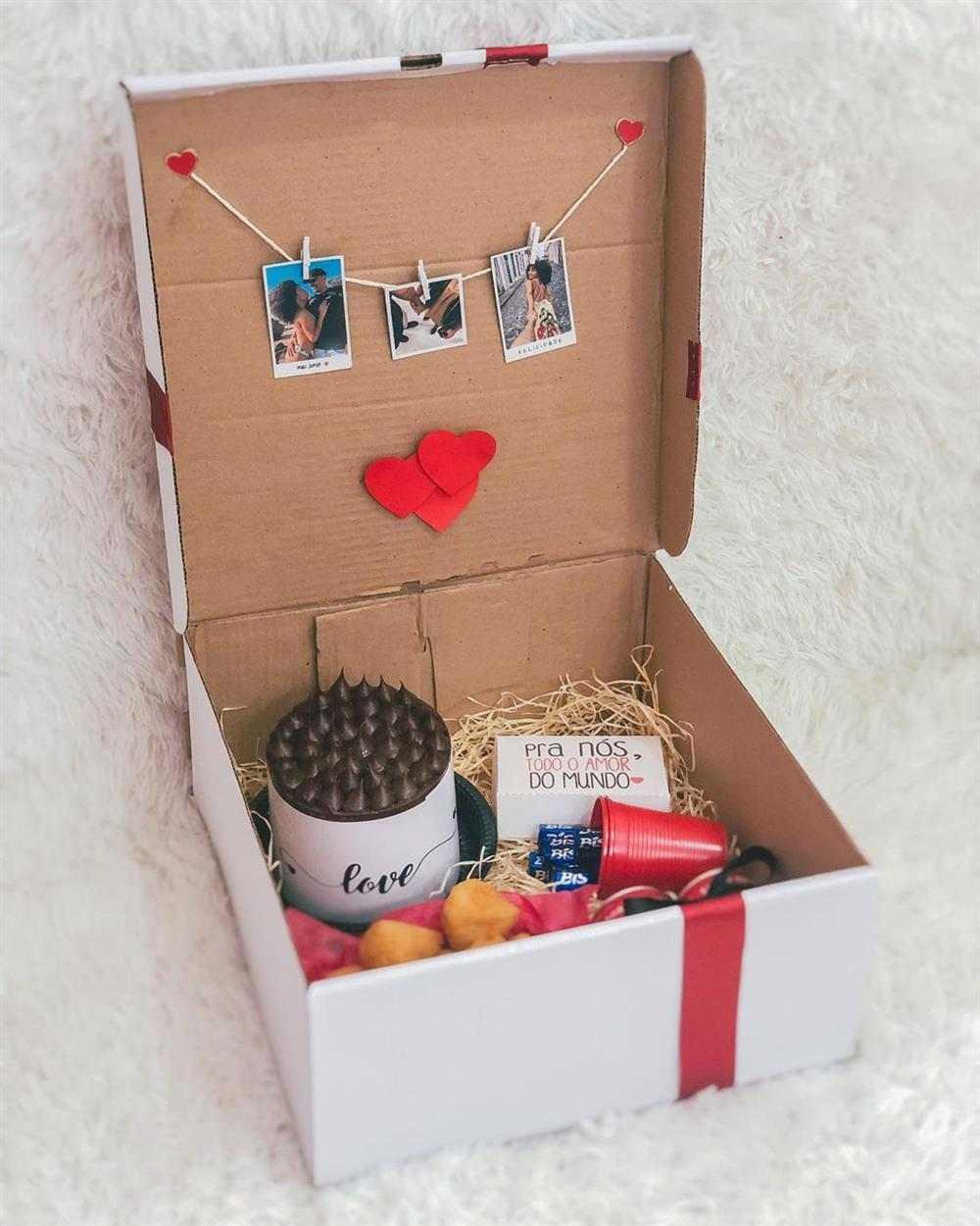 festa na caixa simples para marido