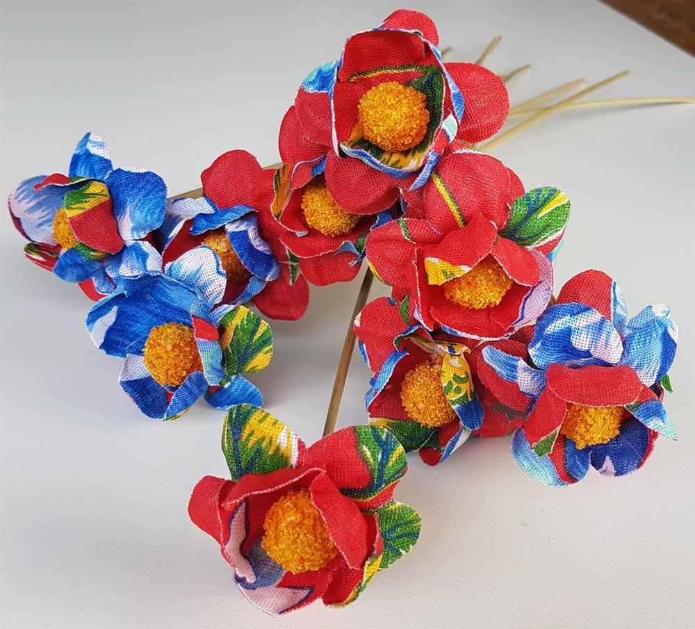 flor de chita com docinho