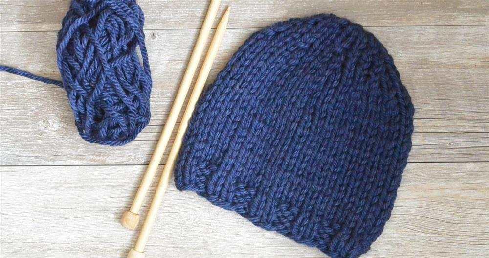 touca de trico para iniciantes