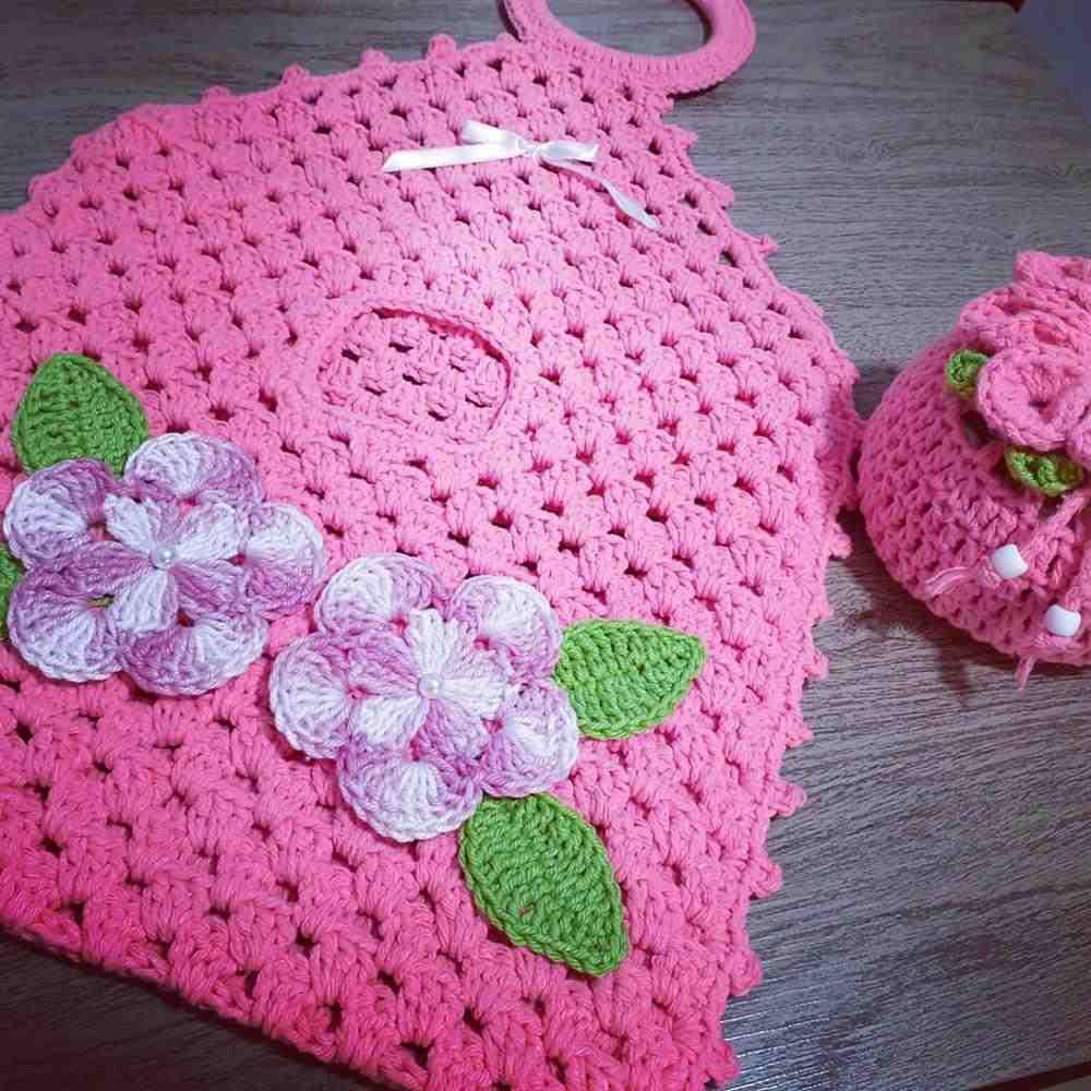 puxa saco rosa com argola