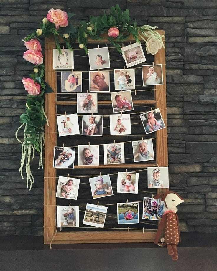 decoracao com fotos do bebe