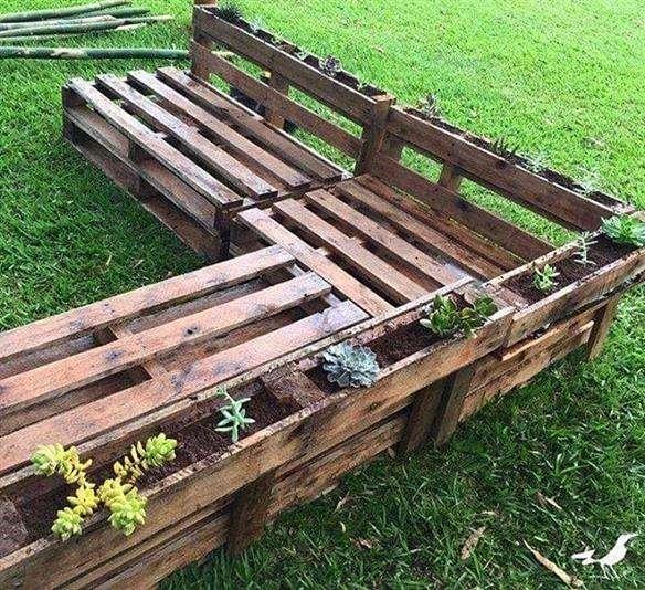 banco de pallet para jardim