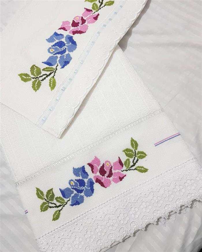 toalhas bordadas à mão