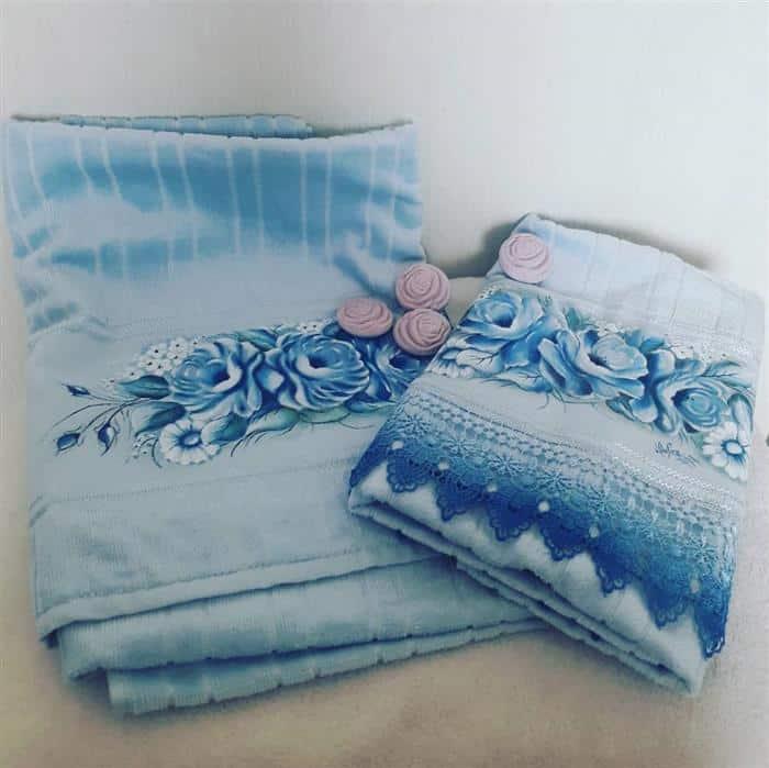 toalhas bordadas banho