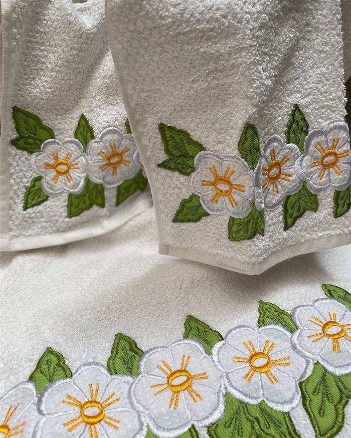 toalhas bordadas de banho
