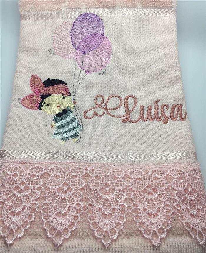 toalhas bordadas em ponto cruz infantil