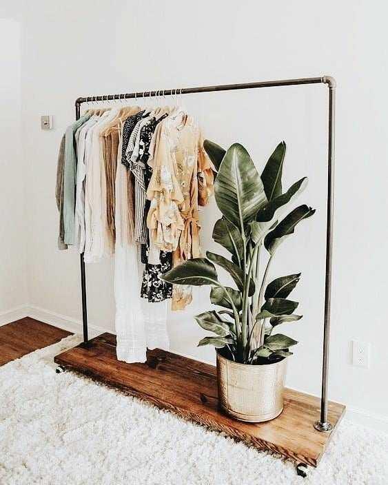 arara de roupas aluminio