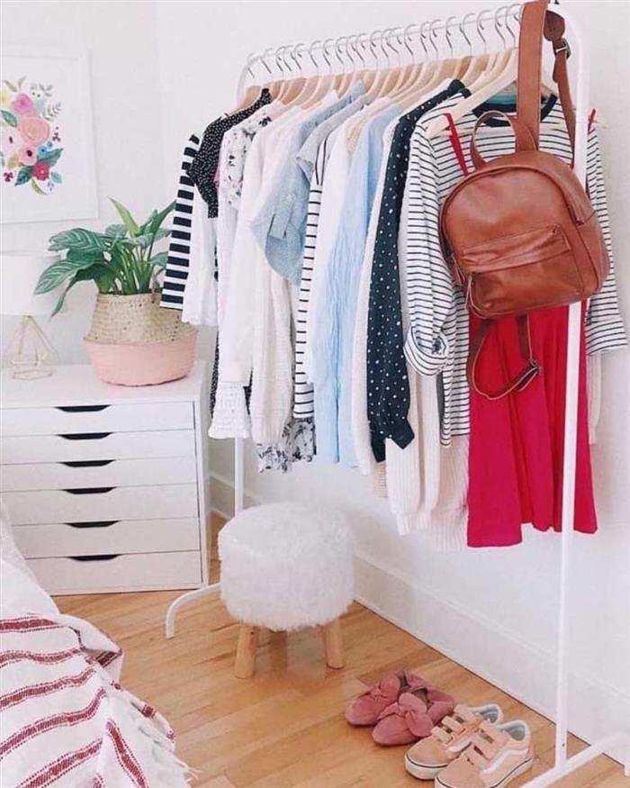 organizador de roupas inox