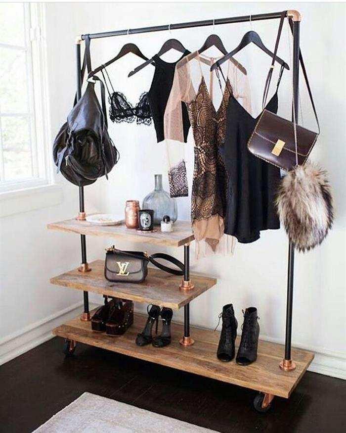 cabideiro de roupas para quarto