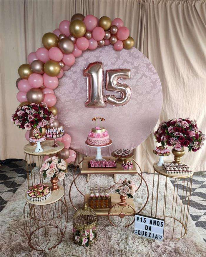 15 anos rose gold