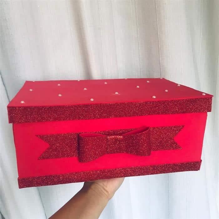 caixa de presente em eva