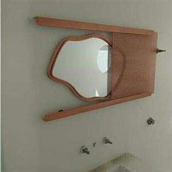 moldura artesanal para espelho de banheiro