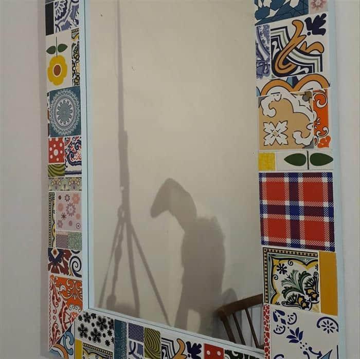 moldura de espelho para quarto