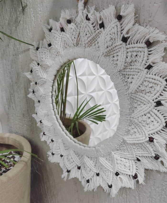 moldura para espelho artesanal