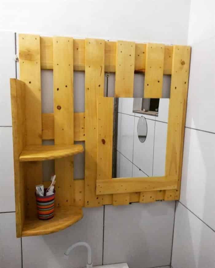 moldura para espelho banheiro