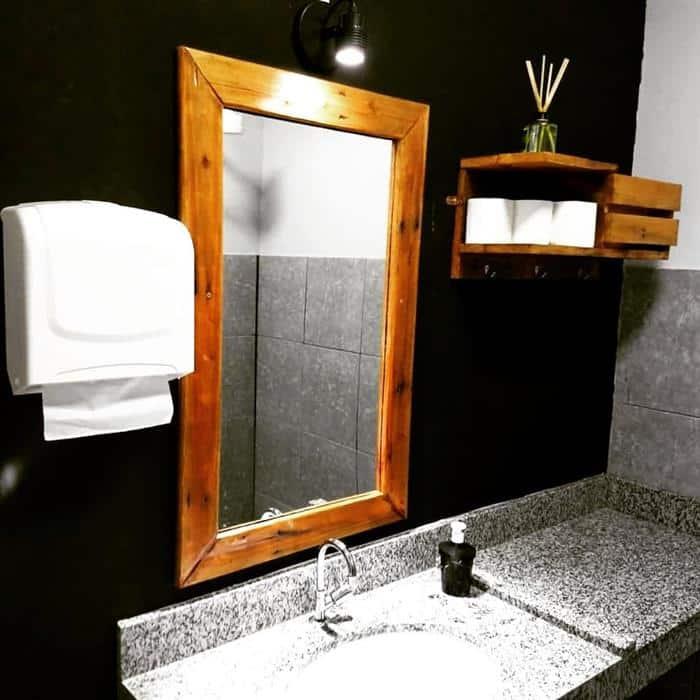moldura para espelho com luz