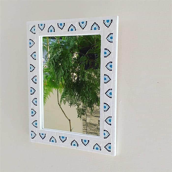 moldura para espelho de papelão