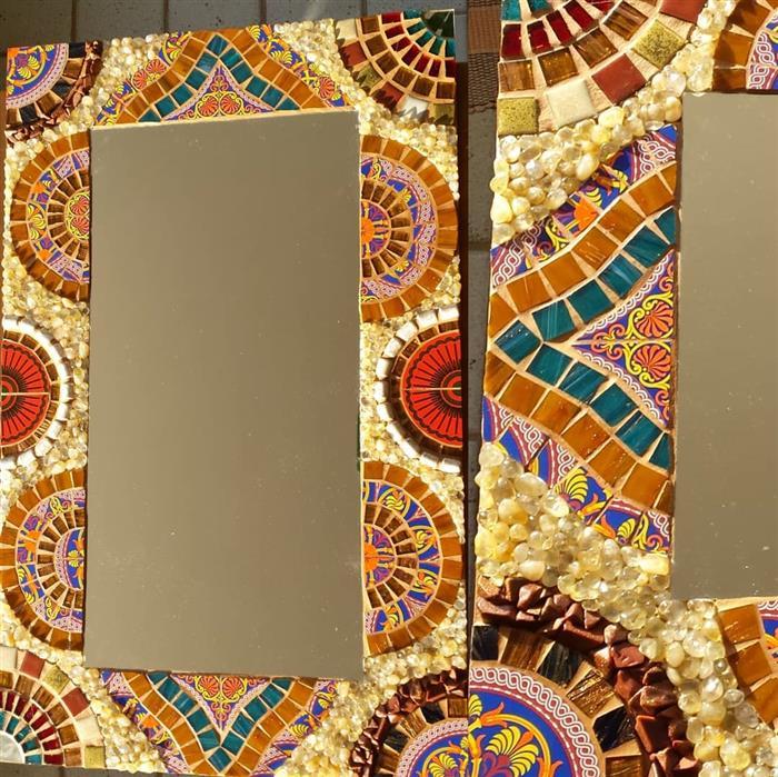 moldura para espelho sala de jantar