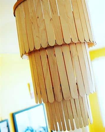 artesanato com palito de picole luminaria