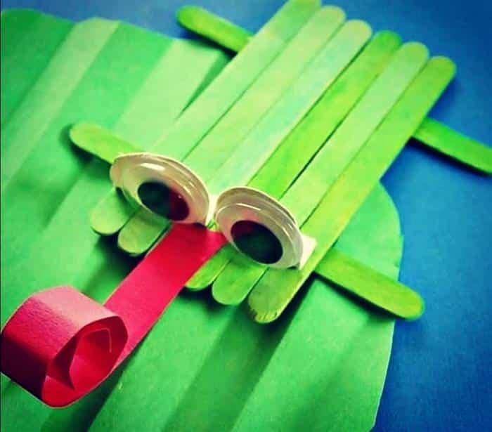 artesanato infantil com palito