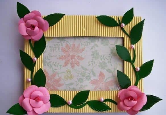 artesanato quadro de papelao