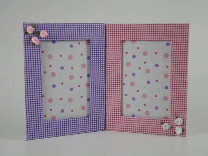 quadro de papelão e tecido