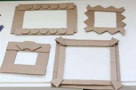quadro de papelão molde