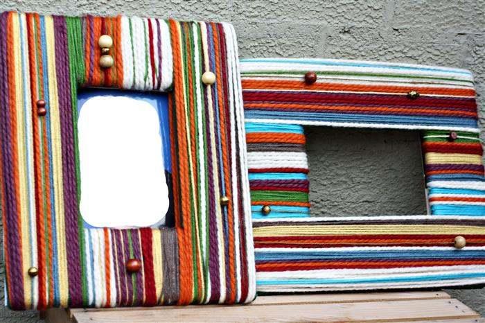 quadro forrado com lã