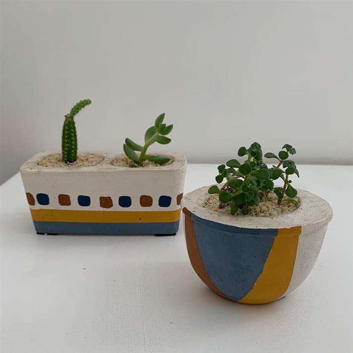 vasos de cimento para plantas