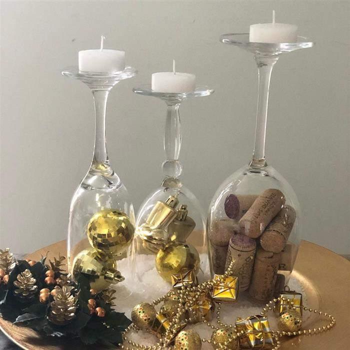 decoração de ano novo com material reciclado