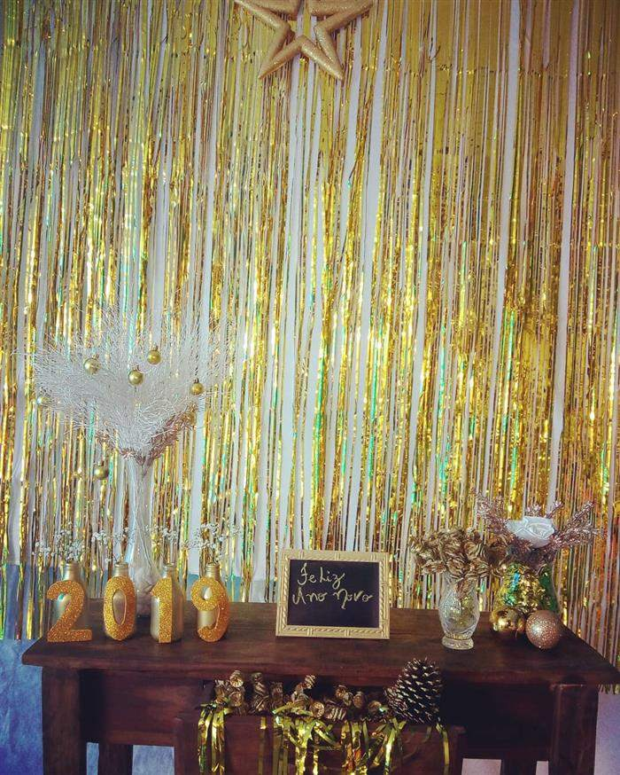 decoração de parede para o ano novo