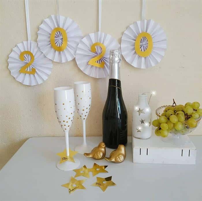 decoração para festa de ano novo simples