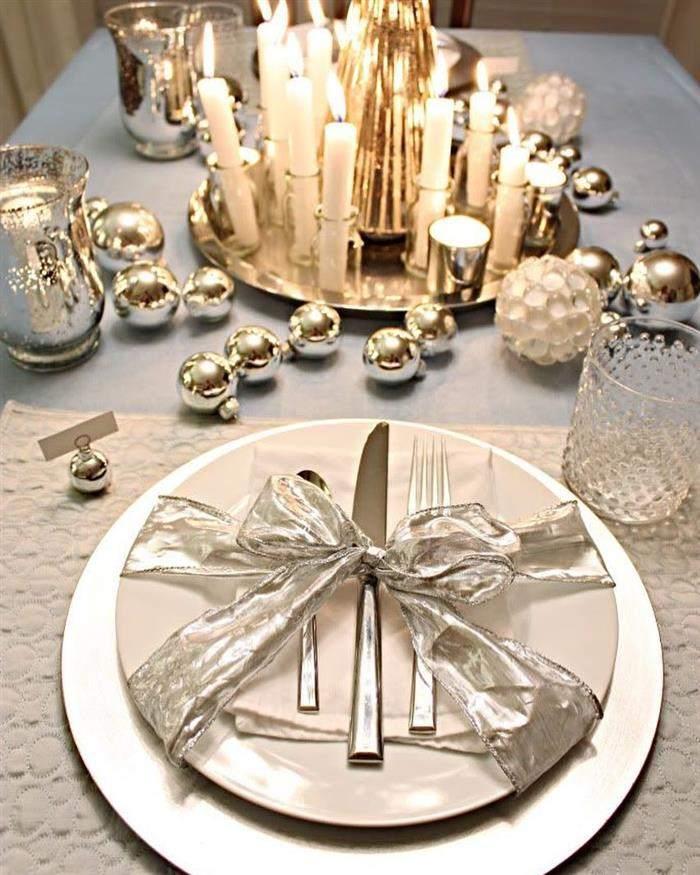 decoração para jantar de ano novo