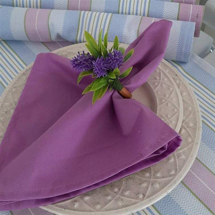 flor de lavando porta guardanapo
