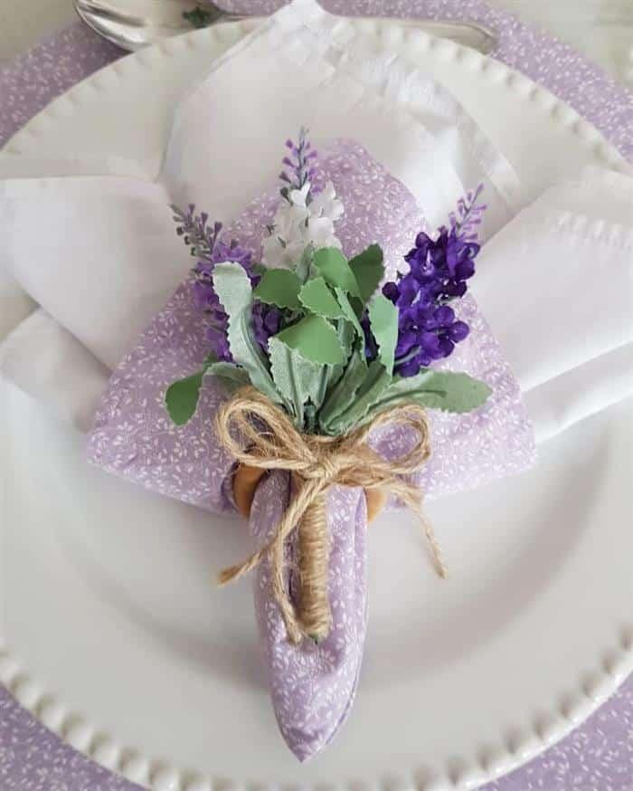porta flor de guardanapo rustico