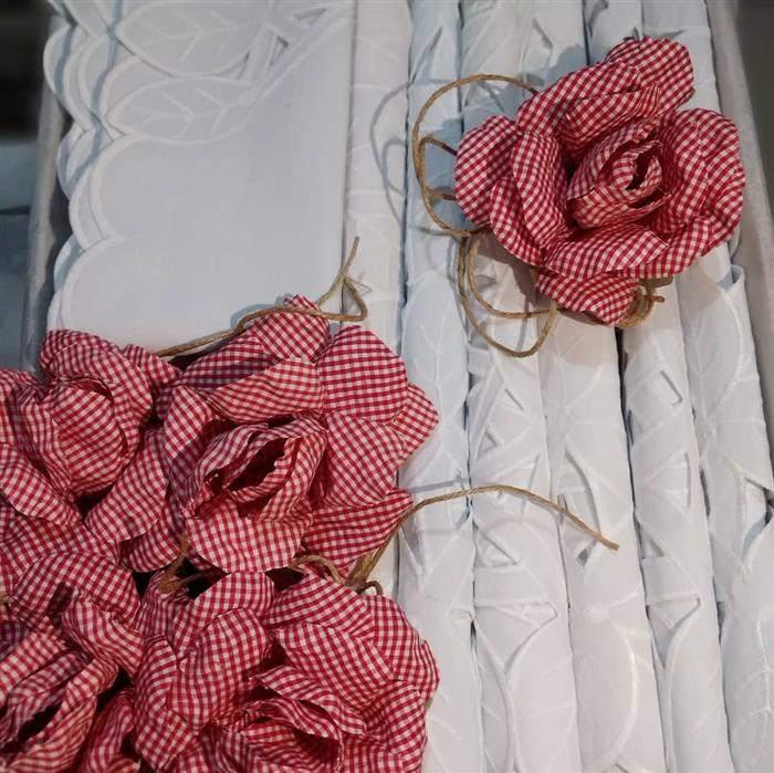 porta guardanapo de flor simples