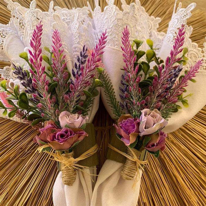 porta guardanapos flores casamento
