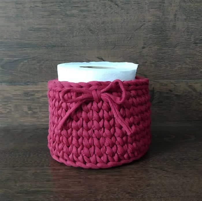 cachepo de croche para banheiro
