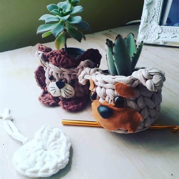 cachepot de cachorrinho
