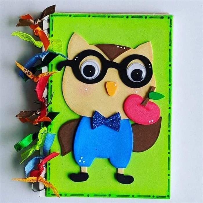 capa de caderno em eva simples