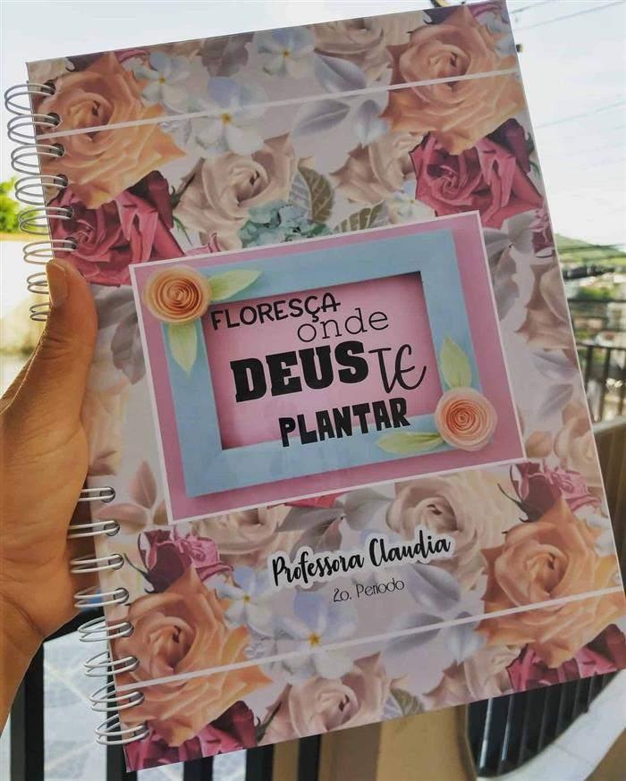 capa de caderno personalizada espiral