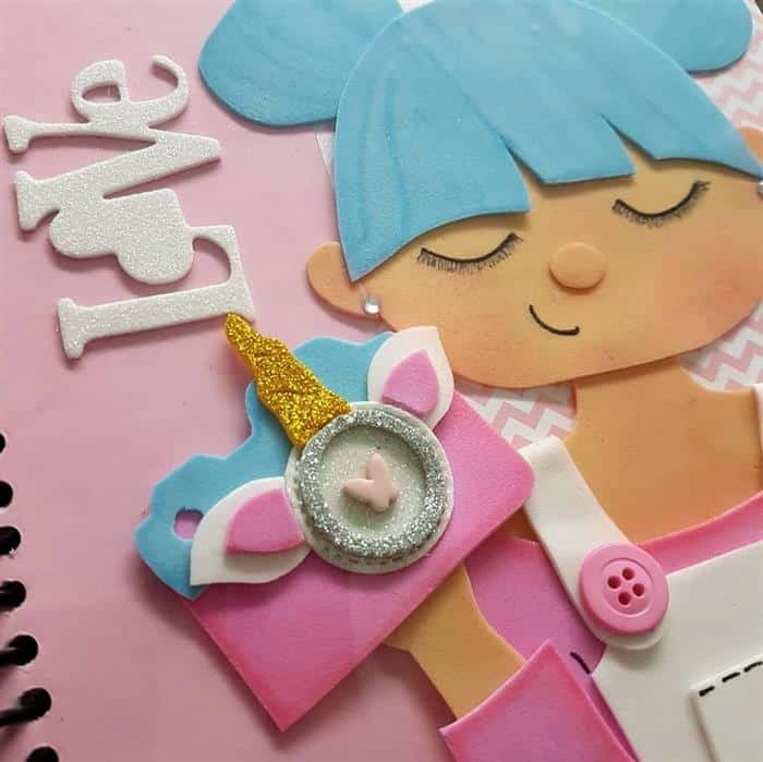 capa de caderno personalizada eva