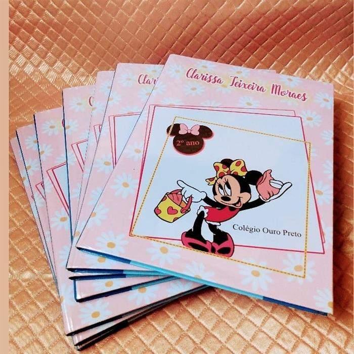 capa de caderno personalizado com impressão